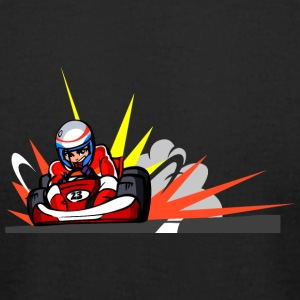 anime carting driver - Men's T-Shirt by American Apparel