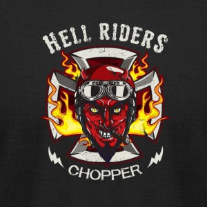 Hell riders Chopper - Men's T-Shirt by American Apparel