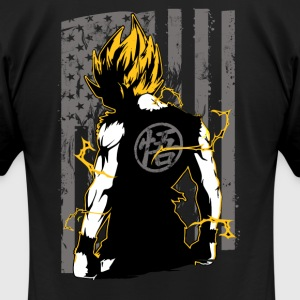 American super saiyan goku t shirt - Men's T-Shirt by American Apparel