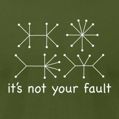 Not Your Fault - Math - Men's Jersey T-Shirt