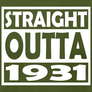 86th Birthday T Shirt Straight Outta 1931 - Men's T-Shirt by American Apparel
