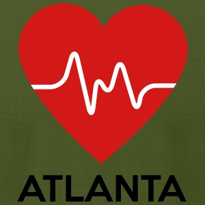 Heart Atlanta - Men's T-Shirt by American Apparel