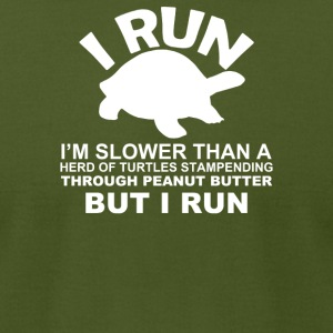 I Run Slower The Turtles - Men's T-Shirt by American Apparel
