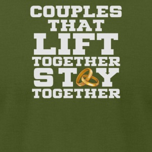 Couples that lift together - Men's T-Shirt by American Apparel