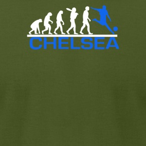 CHELSEA evolution sports football funny - Men's T-Shirt by American Apparel
