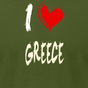 I love GREECE - Men's T-Shirt by American Apparel