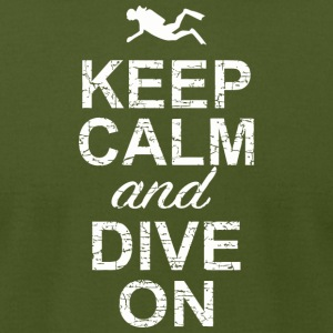 Dive bar - Keep Calm And Dive On - Men's T-Shirt by American Apparel
