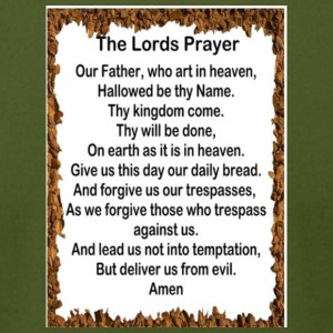 Lords Prayer - Men's T-Shirt by American Apparel