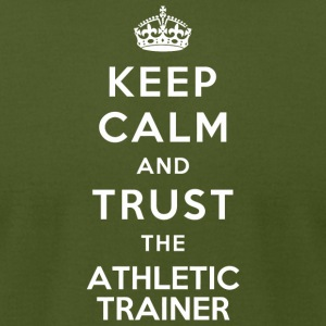 Athletic Trainer - Keep Calm And Trust The Athle - Men's T-Shirt by American Apparel