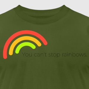 You can't stop rainbows - Men's T-Shirt by American Apparel