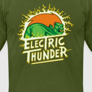 Angry Green Thunder Cyber System - Men's T-Shirt by American Apparel