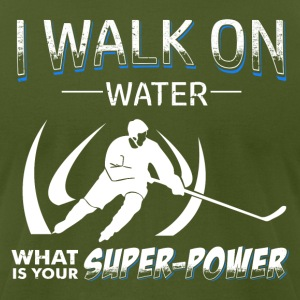 Hockey is my Super Power - Men's T-Shirt by American Apparel