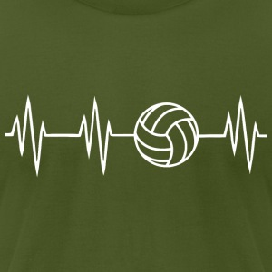 Volleyball Heartbit - Men's T-Shirt by American Apparel