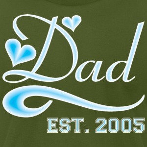 Dad Established 2005 Happy Fathers Day - Men's T-Shirt by American Apparel