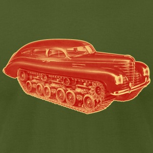 Car Tank red and yellow. - Men's T-Shirt by American Apparel