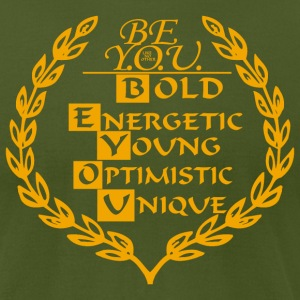 BE YOU CREST - Men's T-Shirt by American Apparel