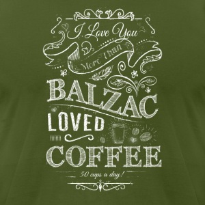 Balzac Loved Coffee - Men's T-Shirt by American Apparel