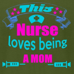 this nurse loves being a mom - Men's T-Shirt by American Apparel