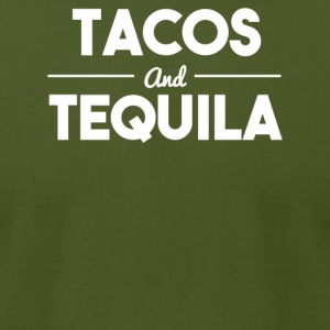 Tacos and tequila - Men's T-Shirt by American Apparel