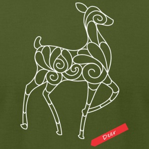 Christmas Deer - Men's T-Shirt by American Apparel
