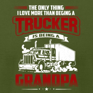 TRUCKER GRANDPA TSHIRT - Men's T-Shirt by American Apparel