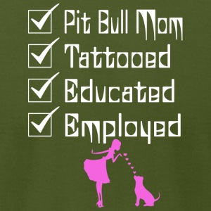 Pit Bull Owner Tattooed Educated Employed T Shirt - Men's T-Shirt by American Apparel