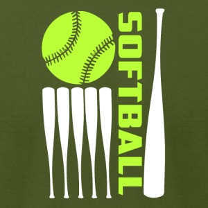 Cool Softball T Shirt - Men's T-Shirt by American Apparel