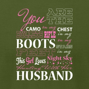 Night Sky Hunting With Her Husband T Shirt - Men's T-Shirt by American Apparel