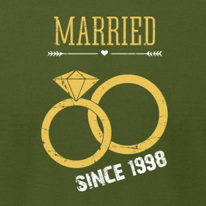 Wedding Anniversary married since 1998 - Men's T-Shirt by American Apparel