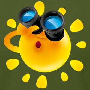 Sun binoculars summer gulls illustration vector - Men's T-Shirt by American Apparel