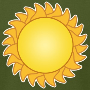 sun sol sunset sundown sunbeams sunshine sunflower - Men's T-Shirt by American Apparel