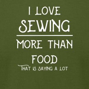I_love_sewing_more_than_food - Men's T-Shirt by American Apparel