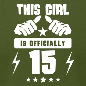 This Girl Is Officially 15 - Men's T-Shirt by American Apparel