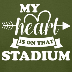 My heart is on that stadium - Men's T-Shirt by American Apparel