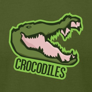 Crocodiles - Men's T-Shirt by American Apparel