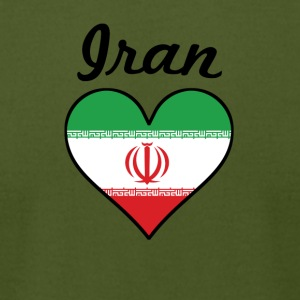 Iran Flag Heart - Men's T-Shirt by American Apparel