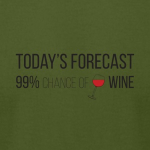 Today's forecast, wine - Men's T-Shirt by American Apparel
