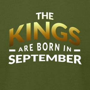 Kings are born in September - Men's T-Shirt by American Apparel