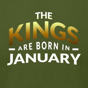 Kings are born in January - Men's T-Shirt by American Apparel