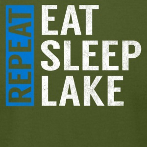 Eat Sleep Lake Repeat Funny Camper Camping Gift - Men's T-Shirt by American Apparel