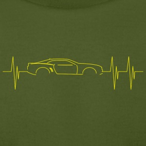 5th Generation Camaro Heartbeat Yellow - Men's T-Shirt by American Apparel