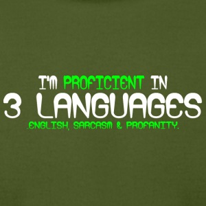 I'm proficient in 3 languages english sarcasm and - Men's T-Shirt by American Apparel