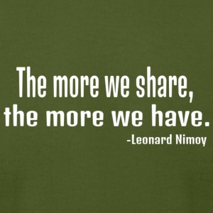 Leonard Nimoy quote in white - Men's T-Shirt by American Apparel