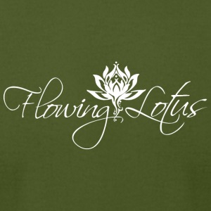 Flowing Lotus Yoga Logo - Men's T-Shirt by American Apparel