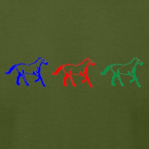 horserace3olors - Men's T-Shirt by American Apparel