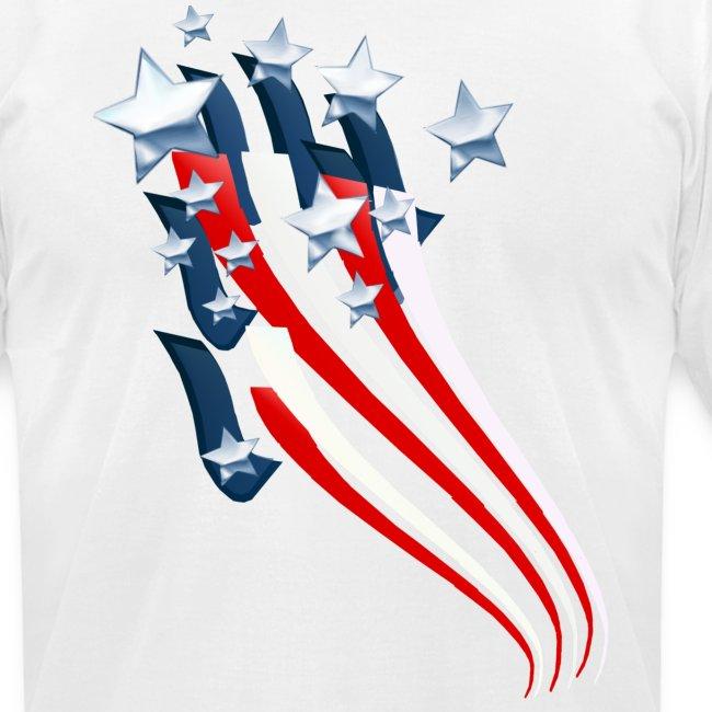 Sweeping American Flag