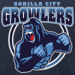 Gorilla City Growlers - Men's T-Shirt by American Apparel