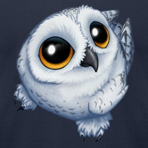 Snow Owl - Men's T-Shirt by American Apparel