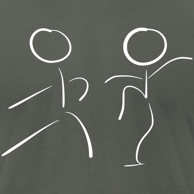 Tai Chi Stick Figures in White