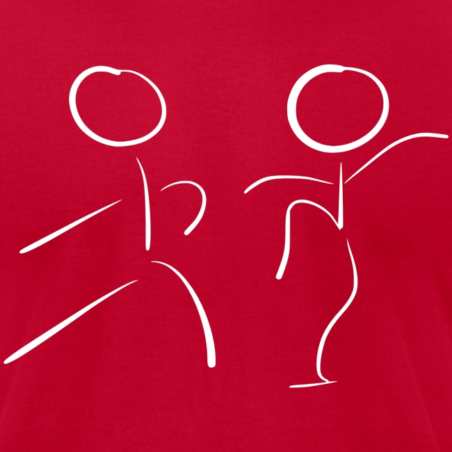 Tai Chi Stick Figures in White
